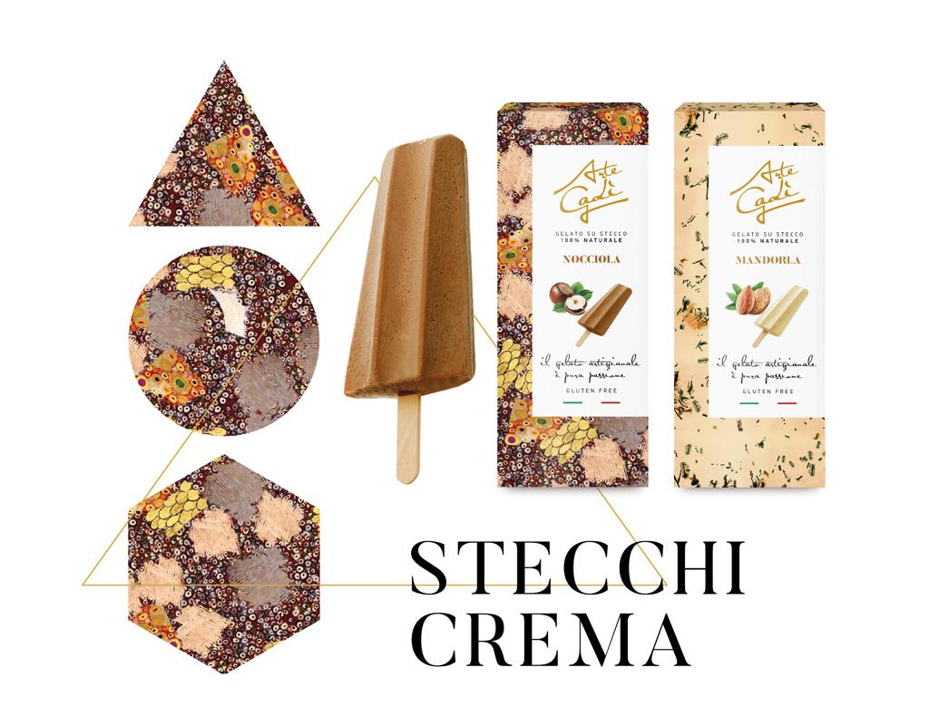 Stecchi alla crema - gelati Arte Gadi