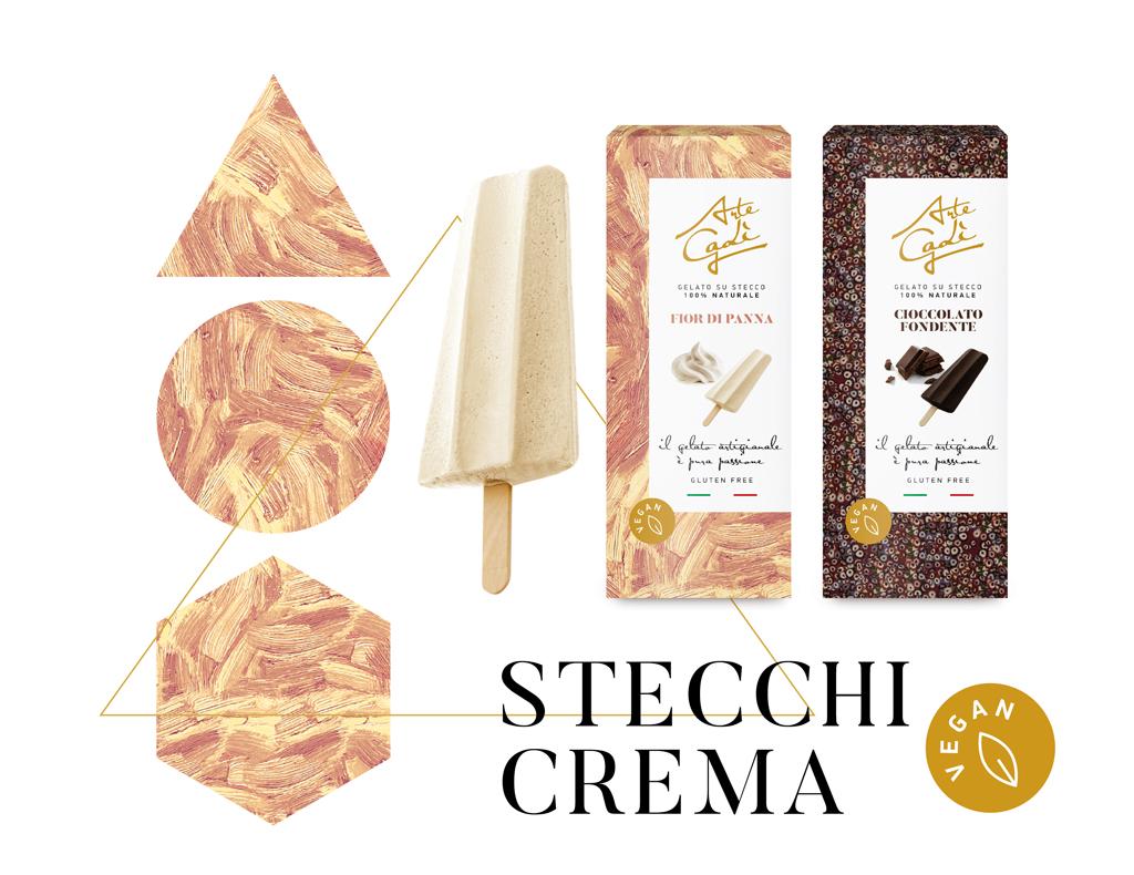 Stecchi alla crema Vegan- gelati Arte Gadi