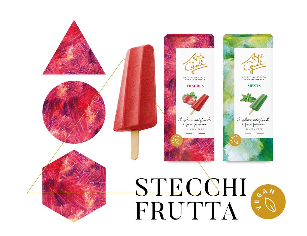 Stecchi alla frutta Vegan- gelati Arte Gadi