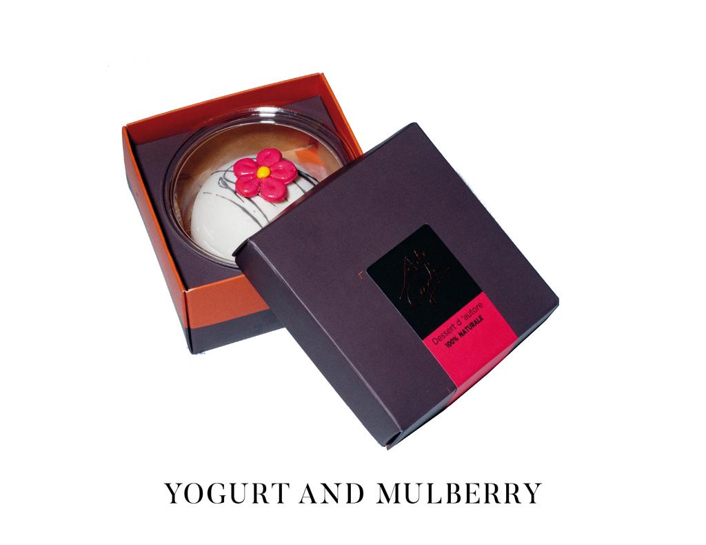 arte gadi dessert yogurt e gelso rosso